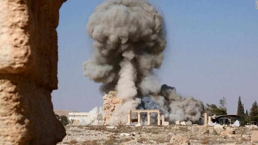 destruction of the Temple of Baalshamin