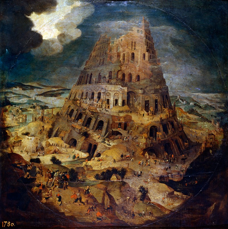 Pieter Brueghel the Younger (1564–1638) Construction of the Tower of Babel – circa 1595
