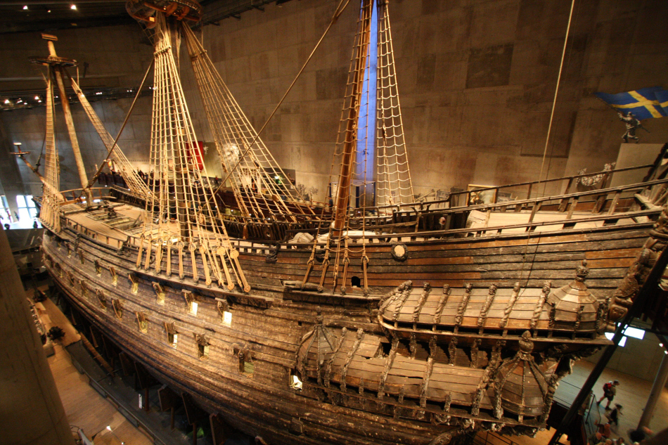 The Vasa warship of Sweden, 15 century.